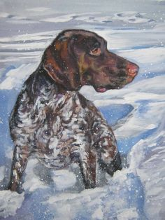 German shorthaired pointer gsp art print canvas by TheDogLover, $39.99