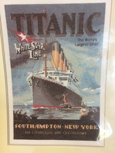Titanic - Cross Stitch Chart by Heritage Stitchcraft from the Nostalgia Collection - Chart Only - New and sealed by LousAtelier on Etsy