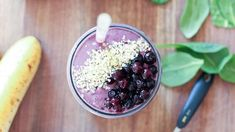 This tasty, low sugar, high protein smoothie recipe utilizes the staying power of frozen Wild Blueberries. Get the recipe now at Wild About Blueberries. Diabetic Smoothies, Protein Smoothie Recipes, Breakfast Smoothie Recipes, Blueberry Breakfast, Vegan Smoothies, Vegetable Smoothies, Healthy Carbs, Healthy Drinks, Healthy Snacks