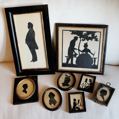 Collection of Antique Framed Silhouettes
