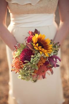 Looks like a rustic wedding bouquet