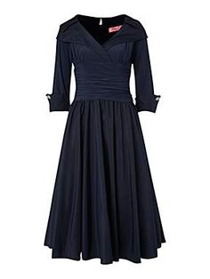 Eliza J 3/4 sleeve ruched waist dress. This is in House of Fraser's ''Mother of the Bride'' board, but I would wear this. Very vintage.
