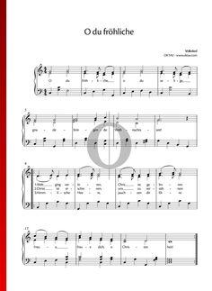 O du fröhliche Klaviernoten Weihnachtslieder für Klavier E Flat Major, C Major, Piano Noten, Sebastian Bach, Piano Sheet Music, Movie Collection, Songs, Keyboard, Special Occasion