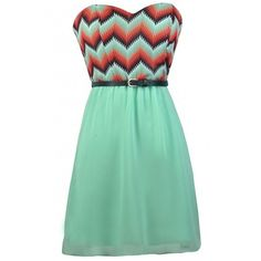 Pixelated Waves Belted Mint Strapless Dress ($20) ❤ liked on Polyvore featuring dresses, evening party dresses, evening cocktail dresses, sweetheart neckline cocktail dress, party dresses and sweetheart cocktail dress