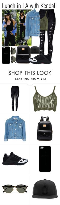 """""""Lunch in LA with Kendall (best friend)"""" by babedirectionerx ❤ liked on Polyvore featuring WearAll, Topshop, adidas, Casetify, Ray-Ban and kendalljenner"""