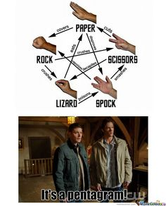 supernatural funny meme | Rock, Paper, Supernatural - Meme Center