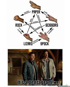 supernatural funny meme | Rock, Paper, Supernatural - Meme Center