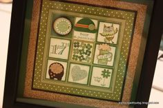 St. Patrick's Day Sampler. See more details at stampingwithjudyg.blogspot.com