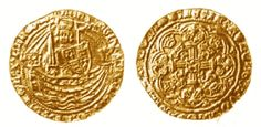 This English Medieval half noble from the fifteenth century was worth 8 groats or 40 pennies.