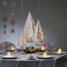 Large White Christmas Tree Lanterns