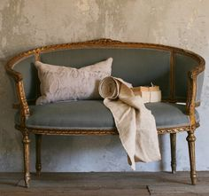 Antique French Settee from Paris Apartment