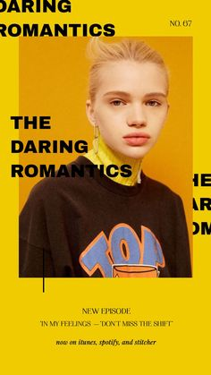 the daring romantics: IN MY FEELINGS— don't miss the shift on Apple Podcasts Newsletter Layout, Newsletter Design, E-mail Design, Book Design, Layout Design, Graphic Design Posters, Modern Graphic Design, Graphic Design Inspiration, Fashion Graphic Design