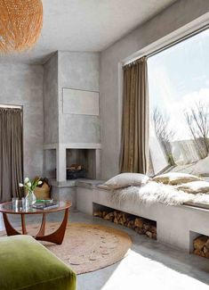 The concrete house: Beautiful modern rustic style home Home Decor Bedroom, Home Interior Design, Modern Interior Design, Interior Design, House Interior, Home, Concrete House, Kitchen Design Plans, Modern Rustic Interiors