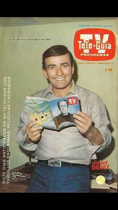 James Drury in the cover of a TV mag Doug Mcclure, James Drury, Tv Show Games, The Virginian, Old Tv Shows, All Smiles, Special People, Having A Crush, Beautiful Men