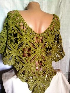 I LOVE IT,  is it me, or is this thing cute..or is it because i love greenz...well, either way...i like it, how about u?...Hello Spring SALE Crochet Green Poncho  $48.00 USD