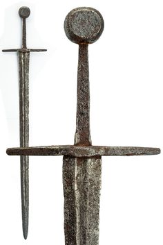 Arming sword of the XIV century. Length 107 cm. The grip (measured by the photos) is 13cm of length.