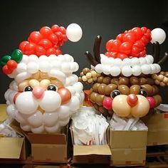 来年は一緒にいられるかな(*´ω(´ω`*)))スリスリ #クリスマス #バルーン装飾 #バルーンアート #着ぐるみバルーン #風船 #サンタクロース #トナカイ #コスチューム #パーティー #ballooncostume #balloonart #balloons #christmas #costume #santa #qualatex #party