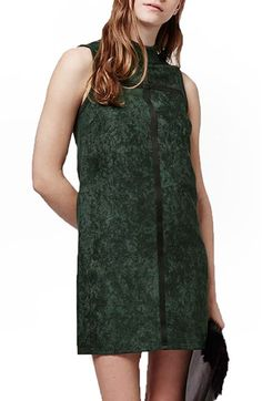 Topshop Mixed Media Shift Dress available at #Nordstrom
