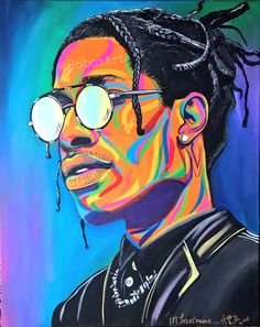 I love to paint! But I dont have time to do all the custom orders that are received, so I decided to make posters of my art! These prints are poster prints with a glossy finish. Arte Do Hip Hop, Hip Hop Art, Art Sketches, Art Drawings, Mode Poster, Trippy Painting, Wow Art, Travis Scott, Psychedelic Art