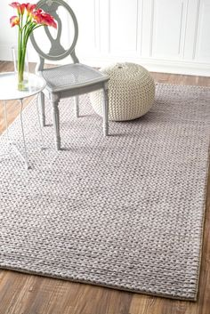 Textures B01 Braided Lt. Grey Rug | Contemporary Rugs $250 for 5x8 gray gangol knotted