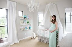 When we found out we were expecting, I was so excited to get started on the nursery. Even before I knew if we were having a boy or girl, I knew I wanted a very calm, neutral and serene space. I wanted lots of pops of white to make the room feel crisp and airy.  I'm really happy with how Harper's room turned out and I can't wait to share it with you all right now! I decided to add mint green to my color palette after not liking the way light pink was looking in the room. I think the mint…