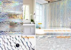 Shower Curtain Mildew Resistant9 Rust Proof Metal Grommets And 12 Plastic HooksWimaha Set Can Be Used As A Stand Alone