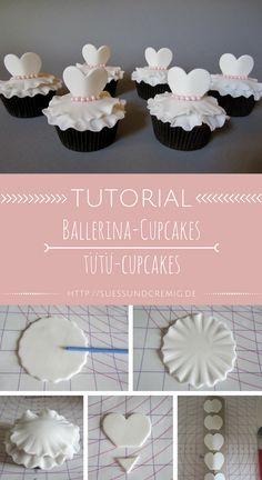 Ballerina Cupcakes Anleitung | Tütü-Cupcakes Tutorial | süß und cremig - Foodblog
