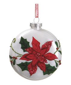 Take a look at this Poinsettia Ornament Ball by Allstate Floral & Craft on #zulily today!