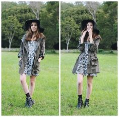 Isabella Wight - Asos Hat, Tempt Jacket, Factorie Dress - Festival Look #1