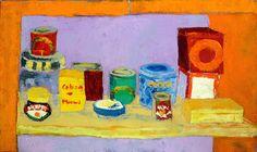 Orange Kitchen n. 1 Original Painting Canvas Art Wall by RLFstudio