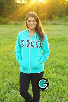 Bella Zip Hoodies available at www.gonegreek.com!