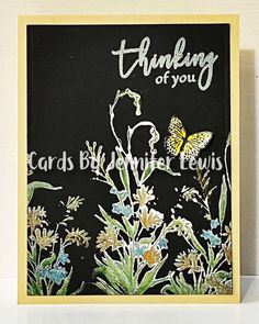 Midnight Wildflowers by Jennifrann - Cards and Paper Crafts at Splitcoaststampers Card Creator, I Love Someone, Colored Pencil Techniques, Midnight Garden, Spellbinders Cards, Dog Silhouette, Penny Black, Simon Says Stamp, Pretty Cards