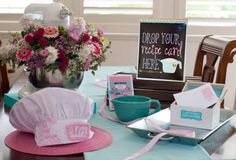Cooking Themed Bridal Shower, drop your recipe here sign
