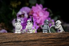 Super fun idea for any Star Wars loving couple: LEGO ring bearers. Photo: Jacob, Disney Fine Art Photography