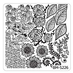 Spring Themed Nail Art Stamping Plates - Occasions Collection, BM-S226: First Blooms