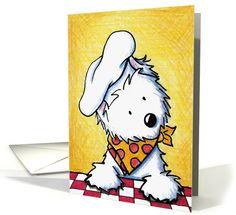Westie Terrier friendship/humor card by KiniArt™.