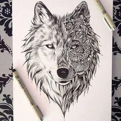 Dessin tatouage loup                                                                                                                                                                                 Plus