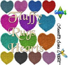 Annett's Sims 4 Welt: Fluffy Rugs Hearts