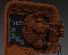 ArtStation - Sci-Fi Door WIP, Deven Winters
