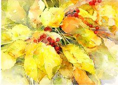 Sherry Schmidt - Negative painting watercolor
