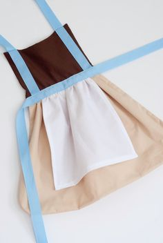 princess Cinderella's work outfit dress up apron for toddlers and little girls