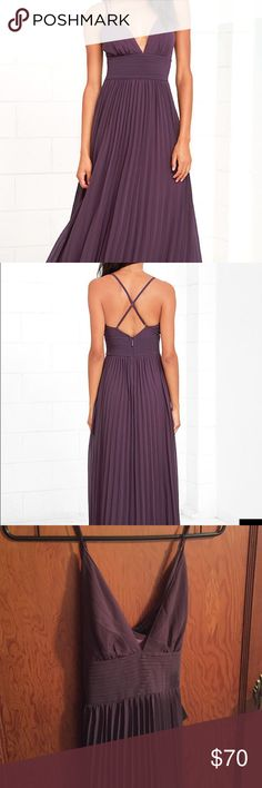 LULUS BEAUTIFUL DUSTY PURPLE MAXI DRESS XS Bought this beautiful dress with no where to where it to! It is in perfect condition, it has just been sitting in my closet. Someone get this pretty dress to good use!! Cheaper on Mercari Lulu's Dresses Maxi