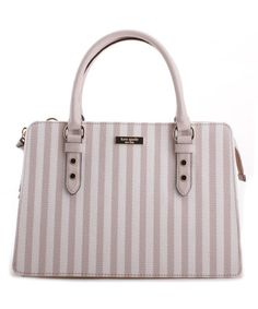 Look what I found on #zulily! Light Pink & Pumice Stripe Lise Mulberry Street Satchel #zulilyfinds