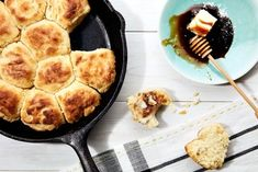 How to make fluffy, Southern biscuits in your cast iron skillet.