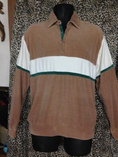 Vintage Oakton Men's Velour Long Sleeve 70's by Heidisvintageshop
