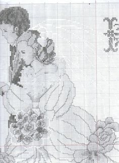 Wedding Cross Stitch, Cross Stitch Love, Cross Stitch Patterns, Looney Tunes, Cross Stitching, Embroidery, Lavander, Crossstitch, Craft