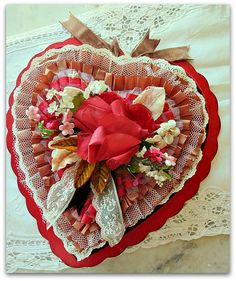 altered vintage heart box....by Karla Nathan