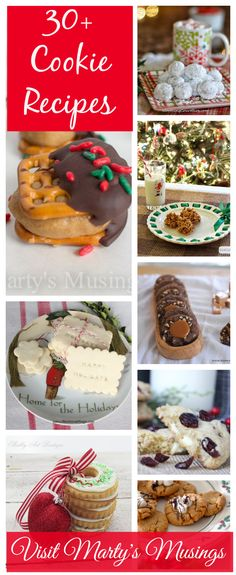 30+ Cookie Recipes from Marty's Musings