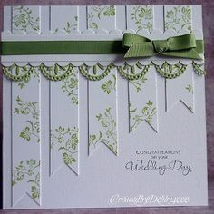 I like the way the paper strips get shorter to leave a place for a sentiment @ Do It Yourself Remodeling Ideas
