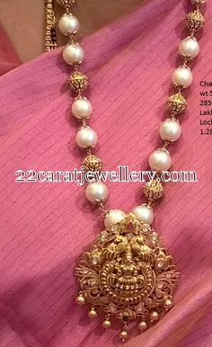 Jewellery Designs: South Sea Pearls Gold Beads Set: